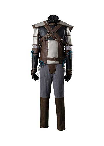 3 Kostüm Witcher Geralt - The Witcher 3 Wild Hunt Geralt of Rivia Outfit Cosplay Kostüm Herren XL