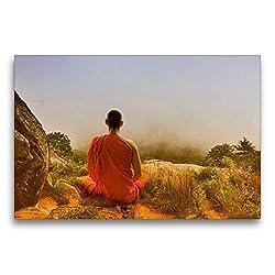 Premium Textil-Leinwand 75 x 50 cm Quer-Format Meditation in Thailand | Wandbild, HD-Bild auf Keilrahmen, Fertigbild auf hochwertigem Vlies, Leinwanddruck von Liselotte Brunner-Klaus