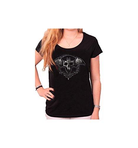 Batman Logo - Skull Maglia donna nero XL
