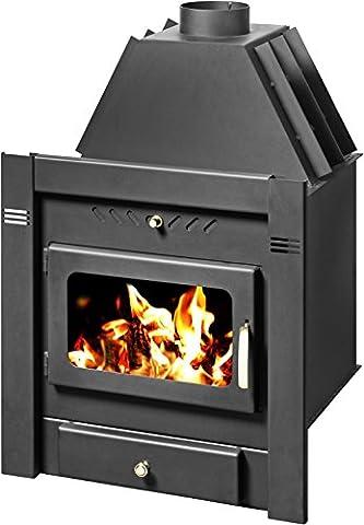 Wood burning fireplace insert Skladova Tehnika, Model Sahara B, Heat output 15kW, Boiler