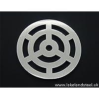 st/ärker 19,7/cm Zoll rund massiv Metall Stahl Schlucht Grid Heavy Duty Ablauf Cover ROST wie Gusseisen