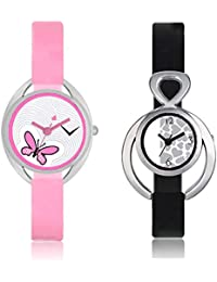 The Shopoholic Pink And Black Women's & Girl's Combo Of 2 Watch