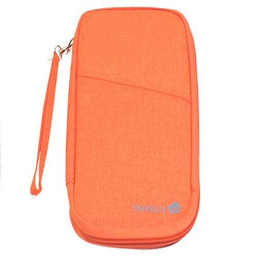 Mode Reisen Multifunktions Reisepass Paket ganze Paket Charter Tarif große Version Hand Reisedokument Tasche Brieftasche Orange