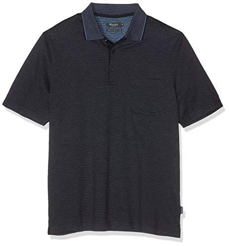 Merino-polo-pullover (Maerz Herren Poloshirt Blau (Navy 399) Large (Herstellergröße: 52))