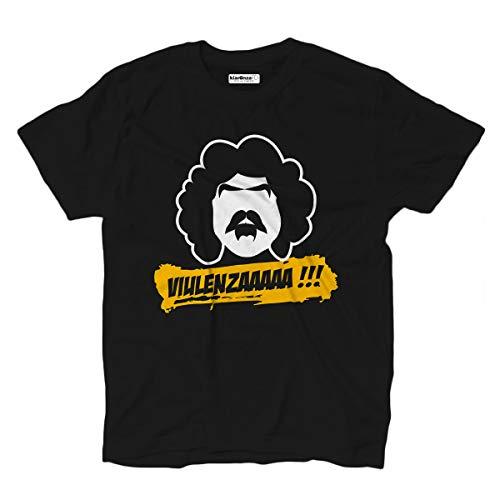 KiarenzaFD T-Shirt Film Trash Comic RAS der Fossil Viulenza Cinema Cult Anni 80 M schwarz