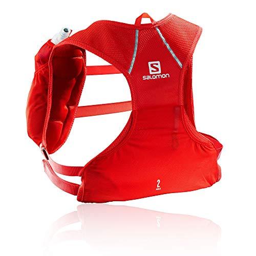 SALOMON Agile 2 Set Mochila pequeña para Carrera de montaña, Práctica y Ligera, Capacidad 2l, Bolsa de hidratación incluida, Unisex Adulto