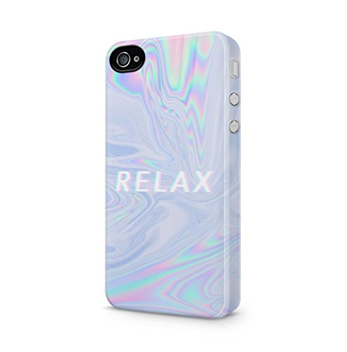 Fall Boho 4 Iphone (Trippy Tie Dye Rainbow Acid Relax Apple iPhone 4 / iPhone 4S SnapOn Hard Plastic Phone Protective Fall Handyhülle Case Cover)