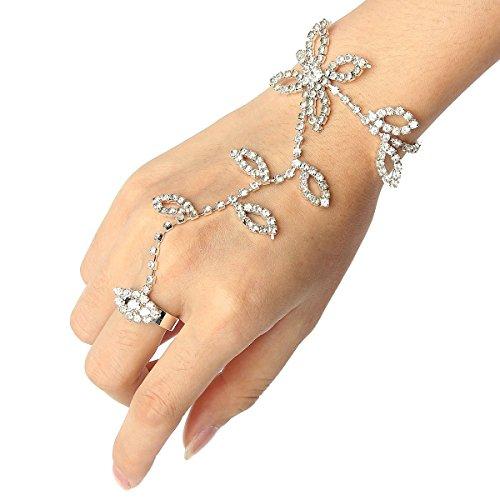 blatt-handkette-kunsthandwerk-armband-verknupfen-finger-ring-silberne-kette-diamant-armband-luckyfin