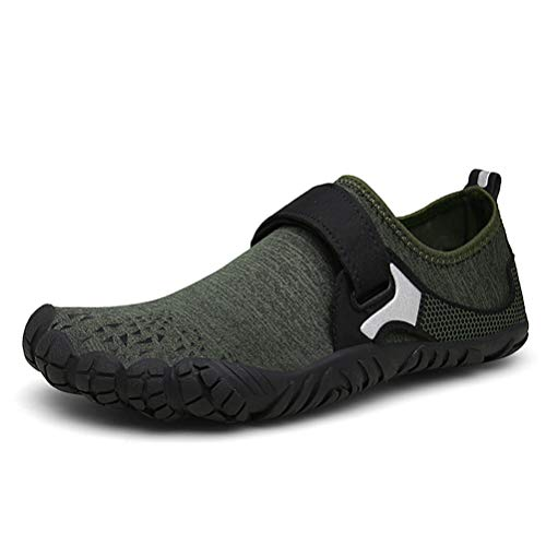 87230447c5b0d UBFEN Water Shoes Mens Womens Sports Aqua Shoes Beach Barefoot Swim  Trainers for Boating Fishing Yoga Diving Surfing with Quick Dry Drainage  Driving ...