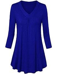 KK Damen Vintage Viktorianisch Stil Bluse Knöpfe Langarm Rüschen Shirt Tops S-XL