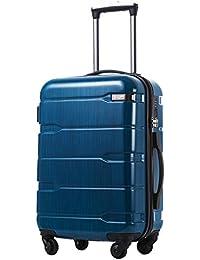COOLIFE Koffer Reisekoffer Vergrößerbares Gepäck (Nur Großer Koffer Verweiterbar) PC + ABS 3-teiliges Set mit TSA-Schloss und Rollen Handgepäck Mittelgroßer Großer Koffer