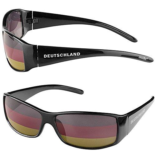 Taffstyle Fanartikel Sonnenbrille Fan Brille zur Fussball Weltmeisterschaft WM & EM Europameisterschaft 2016 Länder Flagge Style - Deutschland