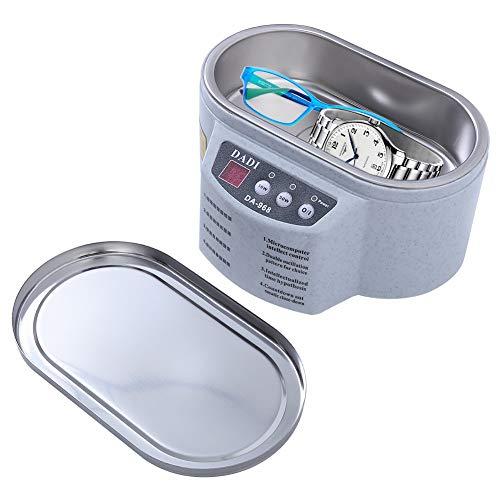 MUYIER Ultraschallreiniger, Professioneller Ultraschall-Schmuckreiniger Für Elektronik-Brillen, Uhrenring, Diamant-Retainer, Prothesenreinigung,UK