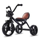 JINHH Tricycles Adultes, Tricycles, Pédales Antidérapantes Roues Silencieuses Multifonctionnel pour Enfant 6 Mois à 5 Ans, Black