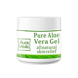 Auravedic Pure Natural Aloe Vera Gel, 100g