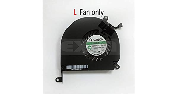 Computer Cables Cooling Fan for MacBook Pro 15.4 A1286 Right /& Left CPU Cooling Fans 2008-2012 Year 661-4951 922-8702 661-4952 922-8703 Cable Length: Used Good, Color: L Fan only