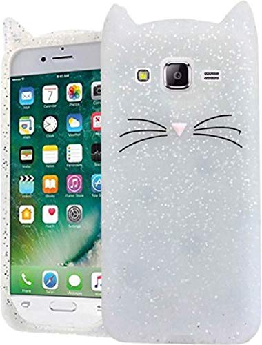 4 Season Cute Cat Meow Soft Silicone Back Cover for Samsung Galaxy J2 (2015)