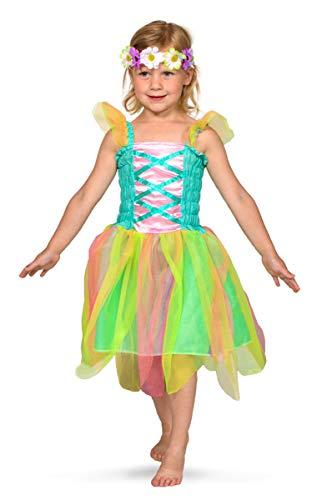 gs-Fee-Kleid mit Blumenkranz 98-116, Mehrfarbig ()