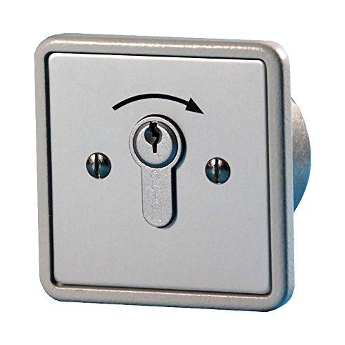BAUER - Schlüsselschalter 1 Schliesser, Unter Putz | Taster, Sicherheit, für Hörmann, Garagentor, Handsender - Garagentor-sicherheit