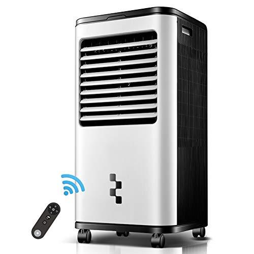 HAIPENG Mobile Tragbare Klimaanlage Klimagerät Luftkühler Lüfter Kühlung Luftbefeuchter Luftreiniger LED Schlafmodus Fernbedienung 18 Stunden Timer, 150W (Farbe : Weiß, größe : 460x333x910mm)