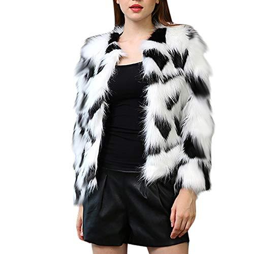 Tonsee  Manteau Femme, Nouvelle Mode Hiver Chaud Manteau Épais Colorant Veste Fausse Fourrure Parka Outwear Cardigan