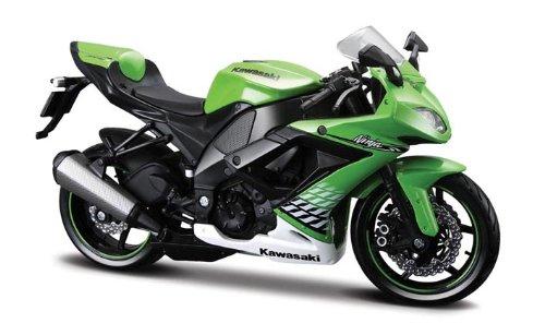 Maisto 531187 - Moto Kawasaki ZX-10R \'10 (Escala 1:12)