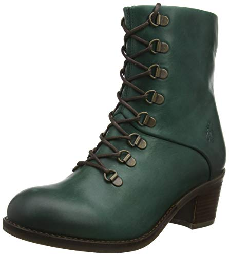 Fly London Zane500fly, Botines para Mujer, Verde Petroleo 002, 36 EU