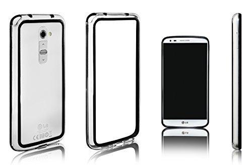 xcessor-classic-bumper-etui-coque-housse-pour-lg-g2-caoutchouc-et-plastique-noir-transparent
