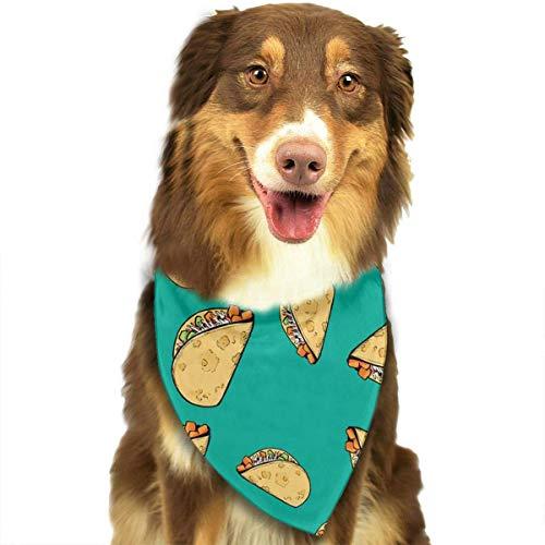 Rghkjlp Sweet Potato Tacos Pattern Dog Bandana Collars Triangle Neckerchief Puppy Bibs Scarfs Pet Scarfs Cats and Baby Scarf Towel
