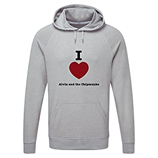 I Love Alvin and The Chipmunks Light Grey Hooded Sweatshirt Small