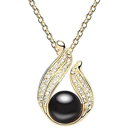 Pearl Necklace Retro Creative Crystal Pendant Ornament Clothing Accessories Chain