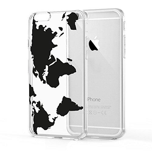Loose Werbetechnik Handy Hülle, TPU Schutzhülle Tasche Case Cover, Kratzfest Weich Flexibel Silikon für iPhone, Handy:iPhone 7;Handy Motiv:Ananas Weltkarte
