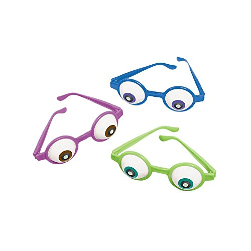 Amscan Mons Terrific Disney Monsters University Eyeball Glasses Costume Party Accessory Favor and Prize Giveaway (6 Piece), Multicolor, 5 1/2 x 4 by Amscan