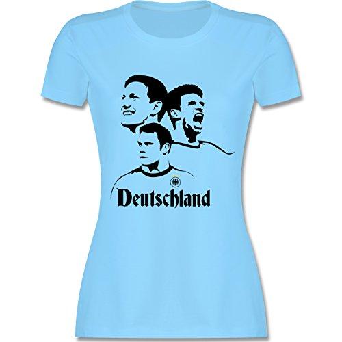 EM 2016 - Frankreich - Deutsche Nationalspieler - EM 2016 Frankreich - tailliertes Premium T-Shirt mit Rundhalsausschnitt für Damen Hellblau