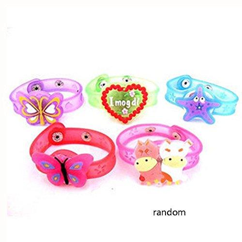 nakw88 Cartoon Led-Licht Armband Armband Leuchtende Blinkende Spielzeug für Kinder Gesendet in