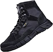 FREE SOLDIER Men's Tactical Boots 6 inch Lightweight Breathable Military Boots for Hiking Work B