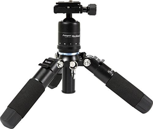 Rollei Compact Traveler Mini M1 (former M5 Mini) - Compact Table Top Tripod - Max. Load 8 kg - incl. Ball Head and Quick Release Plate - Black
