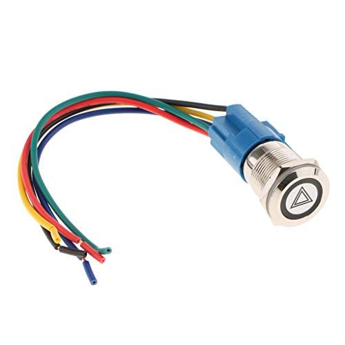 B Blesiya 1 Stück Motorrad Lenkerschalter Ein/Aus-Schalter für allgemeine Lichter, Warnblinker, Nebelscheinwerfer, Scheinwerfer - Rot