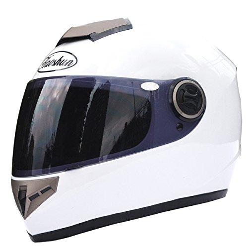 Price comparison product image Motorcycle Helmet Men And Women Electric Car Bicycle Helmet Winter Collar Warm Racing Helmet, White-BrownLenses
