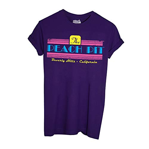 MUSH T-Shirt Beverly Hills 90210 Peach Pit Teaches - Film by Dress Your Style - Damen-XL-Violett