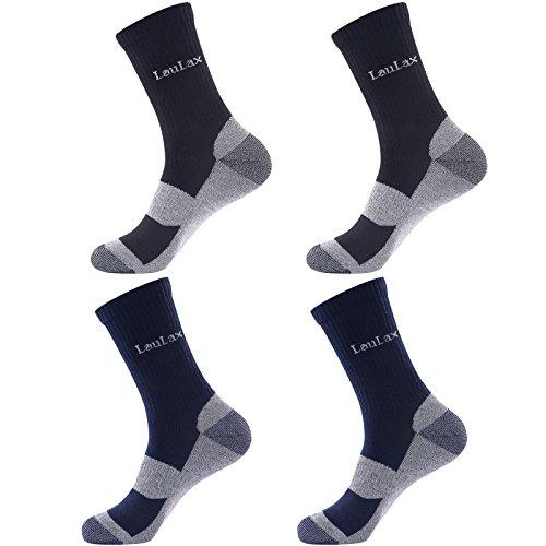 Laulax 4 Pairs Unbreakable Toe Work Socks, Size UK 7 - 11 / Europe 41 - 46