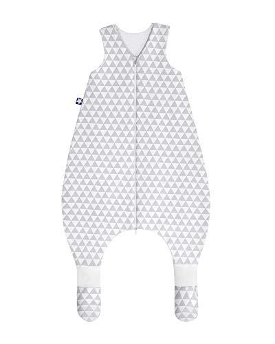Julius Zöllner 9092967260 Jersey Jumper Plus - Schlafsack mit Beinen und Füßen, Ornament, circa 104 cm, grau