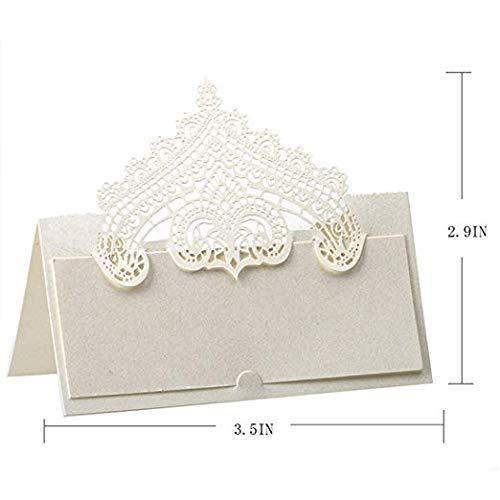 48 Stück Lasergeschnittene Einladungskarten für Partys und Süßigkeitenboxen für Geburtstag, Hochzeit, Party, Gastgeschenk-Sets