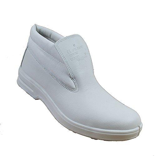 Almar S2 SRC Sicherheitsschuhe Arbeitsschuhe Kochschuhe Laborschuhe hoch weiss B-Ware (Reynolds Schuhe Weiß)