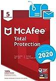 McAfee Total Protection 2020 - Antivirus | 5 Dispositivos | Suscripción de 1 año | PC/Mac/Android/Smartphones| Código de activación por correo