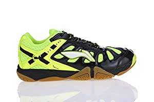 Li Ning Turbo Warrior Badminton Shoes, UK 5 (Black/Lime)