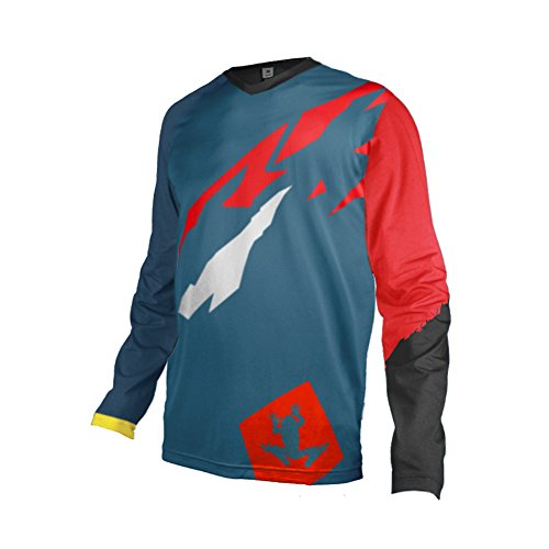 Uglyfrog Bike Wear Element Racewear MX Motocross Jersey Atmungsaktiv Trendy Herren Downhill/MTB Shirt Mountain Shirt Fahrradtrikot Langarm Freeride BMX Frühling Top MF08 - Aloha Jersey