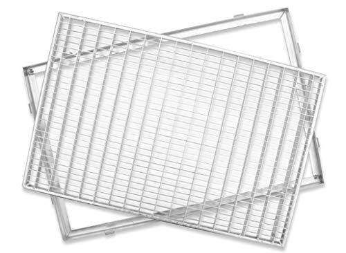 ACO Schuhabstreifer Gitterrost mit Zarge MW 30/10 Eingangsrost Normrost Abstreifer Rost, Größe Gitterroste :60 x 40 cm