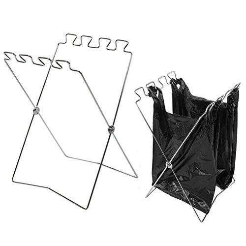 Ounona pieghevole trash bag holder stand pieghevole portatile all'aperto cestino stand trash rack per cucina campeggio esterno pic-nic 57 * 31 cm