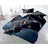 Bettwäsche-Set - (vier-teiliges Set) 3D Baumwolle weiß gedruckt Rose Dog Wolf und Leopard Luxus-Bettwäsche-Set - Home & Living Home Decor